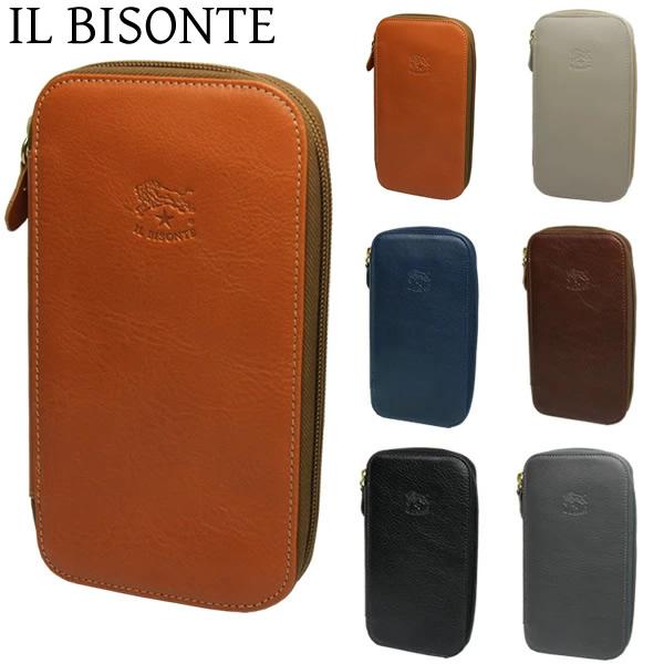 【送料無料】イルビゾンテ IL BISONTE 長財布 ウォレット メンズ レディース ラウンドファスナー c0443p