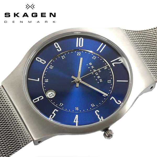 SKAGEN スカーゲン 233XLTTN スリム 腕時計 メンズ 極薄 チタン ウォッチ うでどけい Men's 男性用