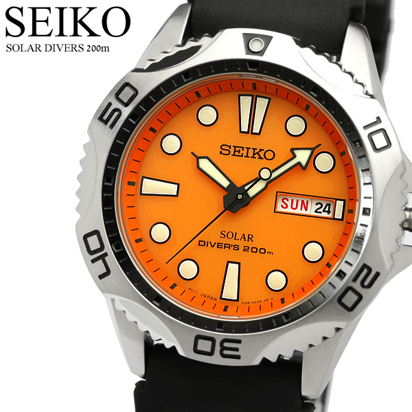 I boil up to 1,000 yen OFF coupon SEIKO SEIKO watch men diver's watch solar  20 standard atmosphere waterproofing orange SEN109P1 MEN'S, and get out