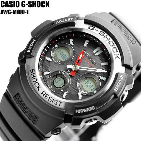 【G-SHOCK/腕時計】Gショック 電波ソーラー G-SHOCK ジーショック CASIO カシオ 腕時計 AWG-M100-1 メンズ うでどけい Men's