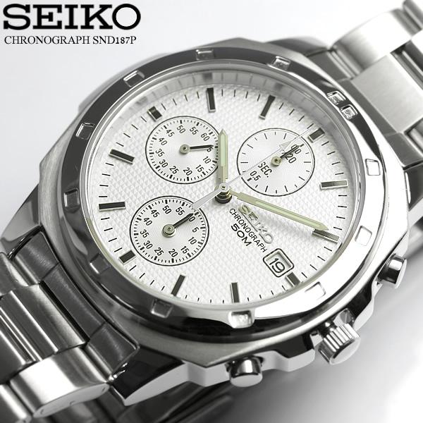 最大1000円OFFクーポン 逆輸入 SEIKO セイコー クロノグラフ メンズ 腕時計 ウォッチ うでどけい Men's クロノ 海外モデル SND187