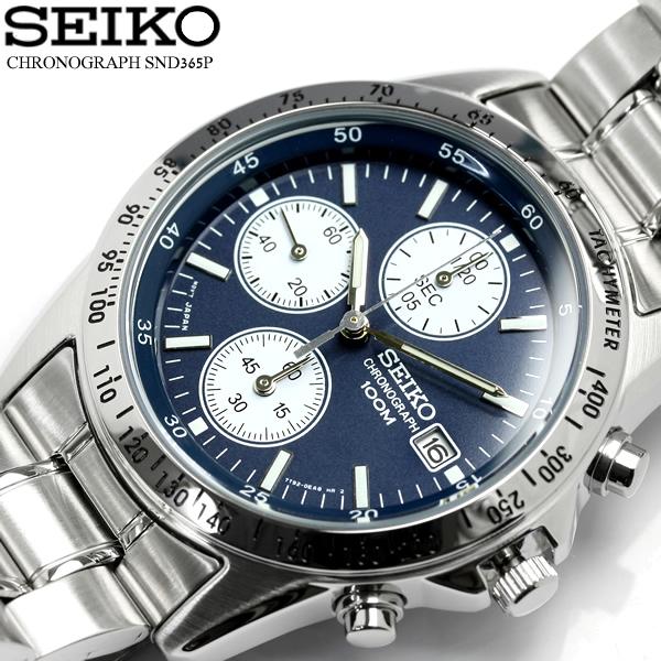 buy popular 7617a 96fa9 逆輸入 SEIKO セイコー クロノグラフ メンズ 腕時計 ウォッチ うでどけい Men's クロノ 海外モデル SND365|CAMERON