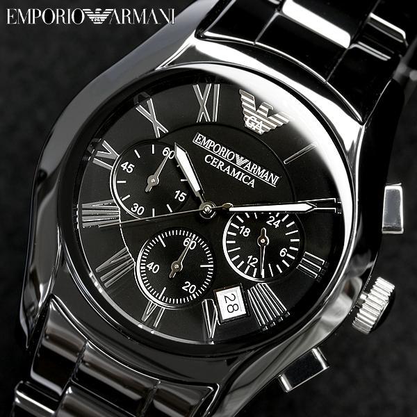【送料無料】EMPORIO ARMANI エンポリオアルマーニ クロノグラフ 腕時計 メンズ AR1400