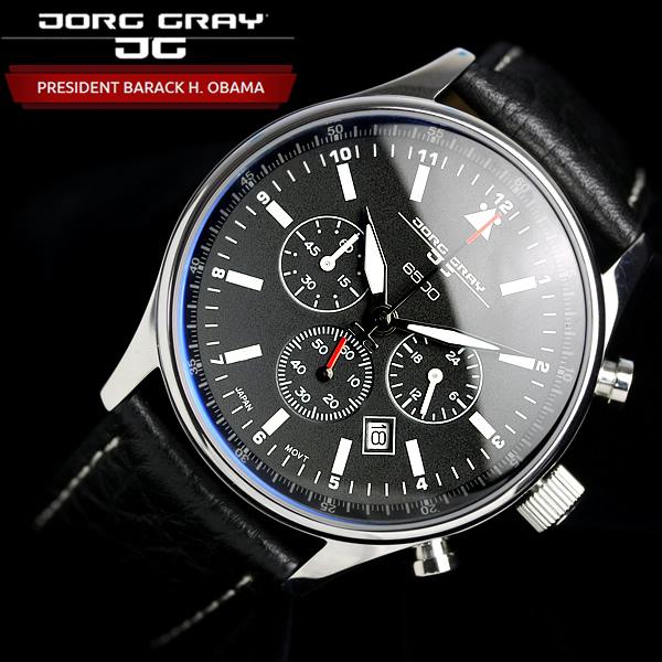 【オバマ大統領着用モデル】 ヨーググレイ JORG GRAY 腕時計 オバマ大統領記念エディションモデル クロノグラフ 腕時計 メンズ クロノ ウォッチ MEN'S うでどけい JG6500