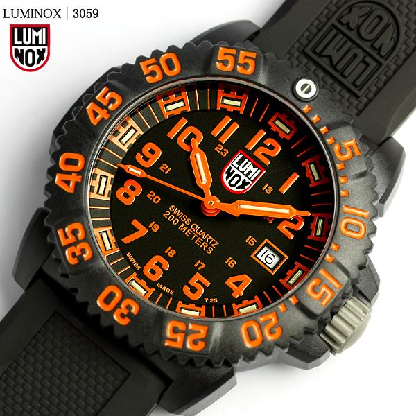 【送料無料】LUMINOX ルミノックス ネイビーシールズ カラーマークシリーズ 腕時計 オレンジ 3059 メンズ ウォッチ