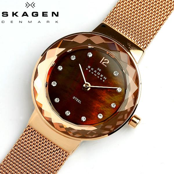 【スカーゲン SKAGEN】 腕時計 レディース 456SRR1 スカーゲン SKAGEN 腕時計 薄型 うでどけい LADY'S ウォッチ スワロフスキー