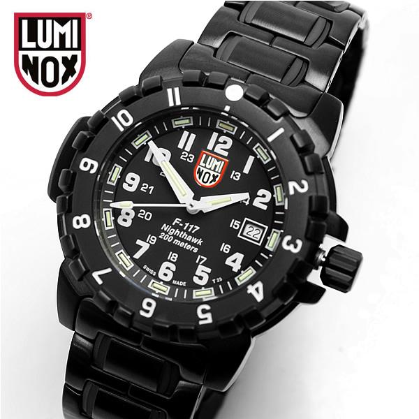 """【最大1000円クーポン】 ルミノックス LUMINOX ルミノックス F-117ナイトホーク 6402 ダイバープロフェッショナル ミリタリー 腕時計 アナログ表示 うでどけい Men""""s"""