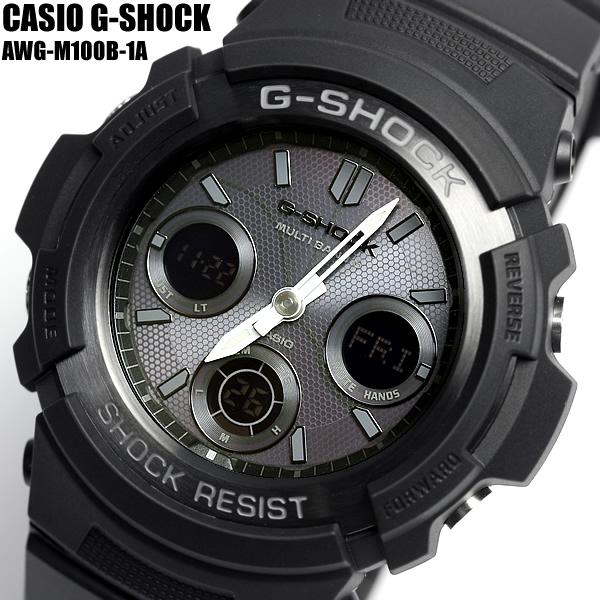 【スーパーSALE】【G-SHOCK/腕時計】Gショック 電波ソーラー ソーラー電波時計 G-SHOCK ジーショック CASIO カシオ 腕時計 AWG-M100B-1A メンズ Men's 父の日 ギフト