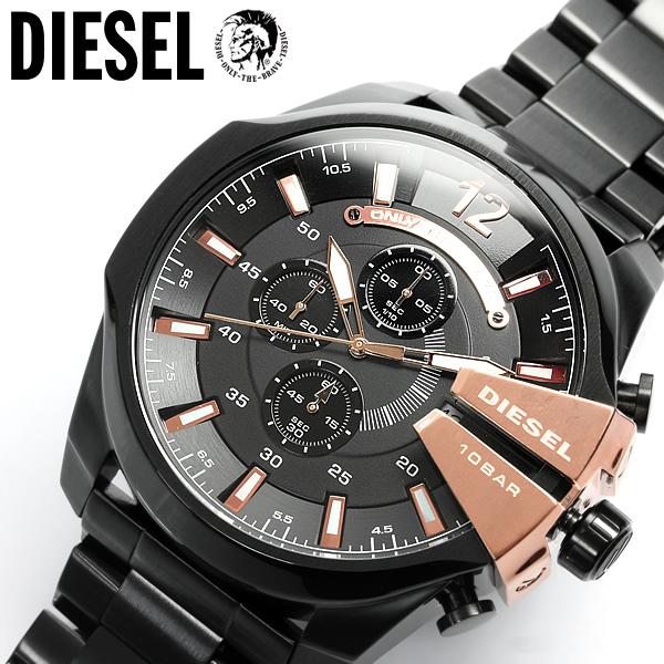 【DIESEL/ディーゼル】 腕時計 メンズ クロノグラフ DZ4309 ブラック×ゴールド メタルベルト 多針アナログ表示 MEN'S うでどけい ウォッチ 人気 ブランド