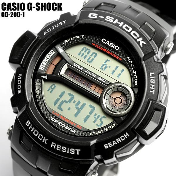 【G-SHOCK・Gショック】CASIO カシオ ジーショック GD-200-1 G-SHOCK メンズ 腕時計 MEN'S うでどけい
