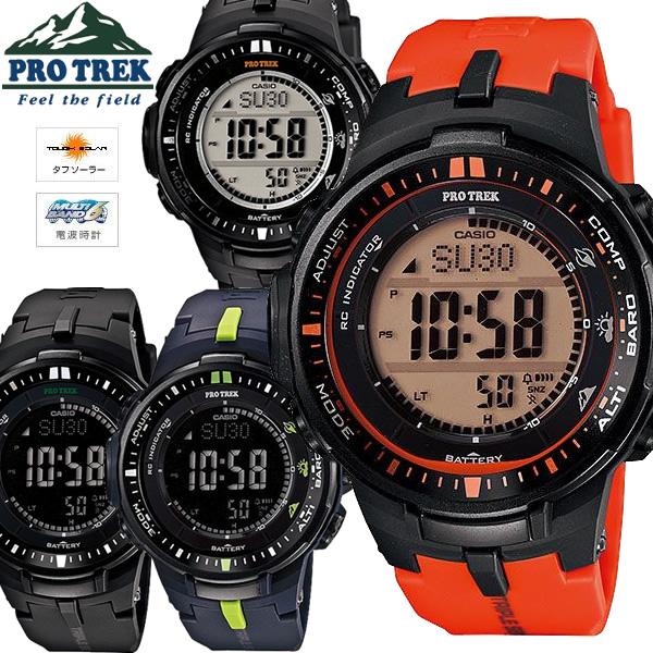 4ed7680654 CASIO カシオ PROTREK プロトレック 電波ソーラー 腕時計 PRW-3000-4