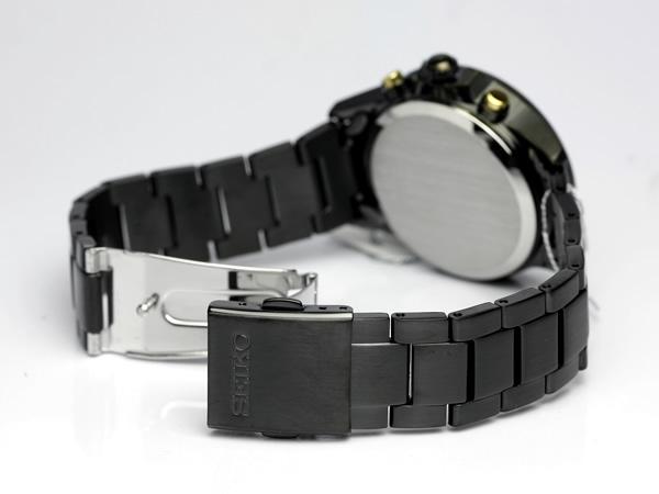 Move SEIKO SPIRIT SMART SEIKO spirit slender men watch solar chronograph black gold SBPY029 Men's watch arm, and is; a watch domestic regular article