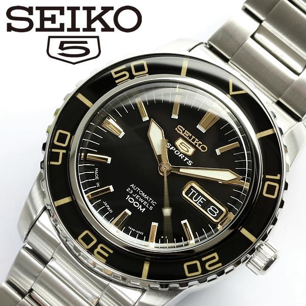 【スーパーSALE】【SEIKO5 SPORTS/セイコー5 スポーツ】 腕時計 ウォッチ 自動巻き メンズ SNZH57J1 Men's うでどけい オートマティック 日本製 MADE IN JAPAN メイドインジャパン