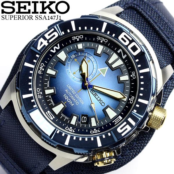 세이코 SEIKO 100주년 기념 한정 모델 손목시계 자동감김 슈페리어 맨즈 SSA147J1 오트마틱