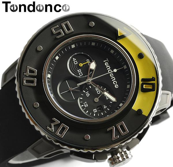 【送料無料】【テンデンス】【Tendence】 腕時計 メンズ クロノグラフ G-52シリーズ 02106001 うでどけい MEN'S ウォッチ ブラック ラバー 20気圧防水 男性用