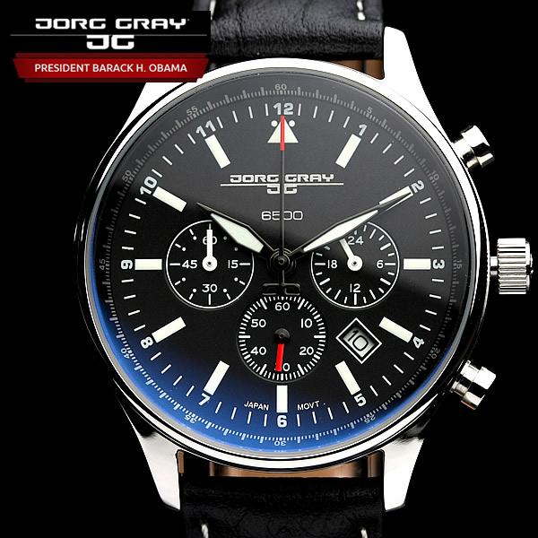 【オバマ大統領着用モデル】 ヨーググレイ JORG GRAY 腕時計 オバマ大統領記念エディションモデル クロノグラフ 腕時計 メンズ クロノ ウォッチ MEN'S うでどけい JG6500-21