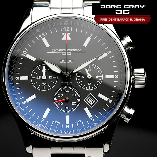 【オバマ大統領着用モデル】 ヨーググレイ JORG GRAY 腕時計 オバマ大統領記念エディションモデル クロノグラフ 腕時計 メンズ クロノ ウォッチ MEN'S うでどけい JG6500-71