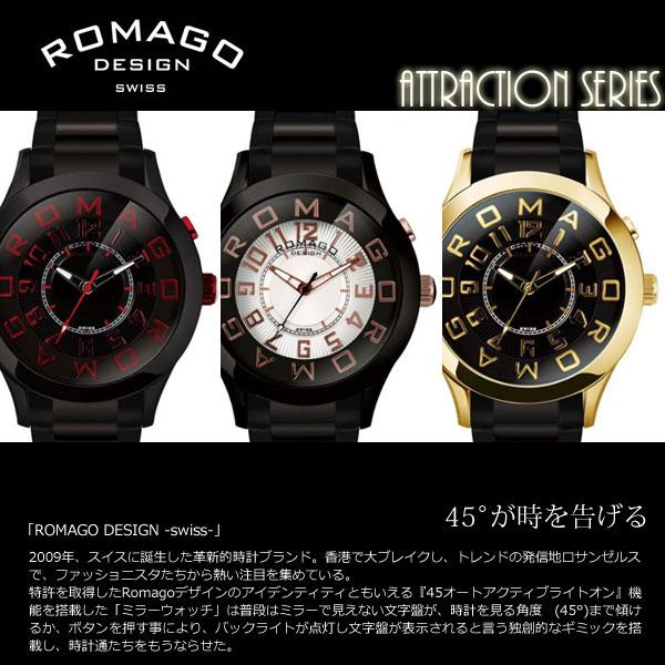 【ROMAGO/ロマゴ デザイン】 腕時計 デザイン】 レディース ミラーウォッチ アトラクションシリーズ 腕時計 メタルベルト スイス スイス 男女兼用 メンズ RM015-0162SS うでどけい, ★お求めやすく価格改定★:46fd2080 --- gallery-rugdoll.com