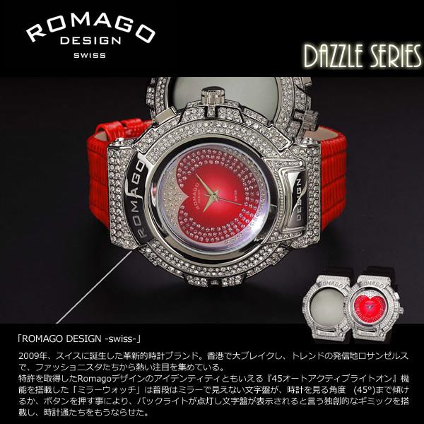 【ROMAGO/ロマゴ デザイン】 腕時計 レディース ミラーウォッチ スワロフスキー トレンドシリーズ スイス RM025-0269 うでどけい