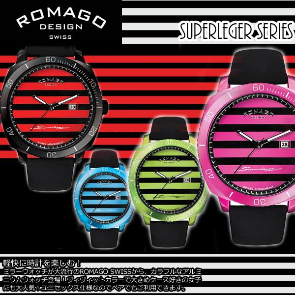 【ROMAGO/ロマゴ デザイン】 腕時計 レディース スーパーレジャーシリーズ カレンダー スイス 男女兼用 メンズ RM049-0371ST うでどけい