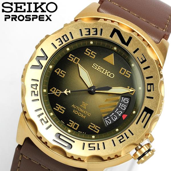 【送料無料】【SEIKO】【セイコー】 PROSPEX プロスペックス 自動巻き 腕時計 100M防水 メンズ 限定モデル オートマティック カレンダー 本革レザー SRP580K1 Men's うでどけい