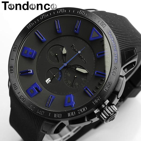 【送料無料】【テンデンス】【Tendence】 腕時計 メンズ ガリバースポーツ GULLIVERSPORT TT560004 うでどけい MEN'S ウォッチ ブラック×ブルー ラバー 10気圧防水