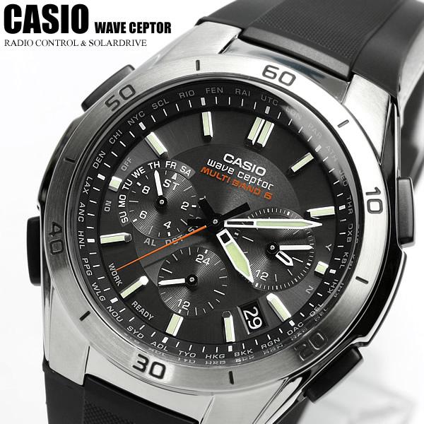 【電波 ソーラー】【カシオ ソーラー電波時計】ソーラー電波腕時計 電波時計 電波ソーラー腕時計 カシオ CASIO メンズ 腕時計 WVQ-M410-1AJF 国内正規品 クロノグラフ CASIO メンズウォッチ うでどけい 腕時計 MEN'S