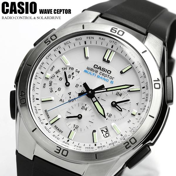 【電波 ソーラー】【カシオ ソーラー電波時計】ソーラー電波腕時計 電波時計 電波ソーラー腕時計 カシオ CASIO メンズ 腕時計 WVQ-M410-7AJF 国内正規品 クロノグラフ CASIO メンズウォッチ うでどけい 腕時計 MEN'S