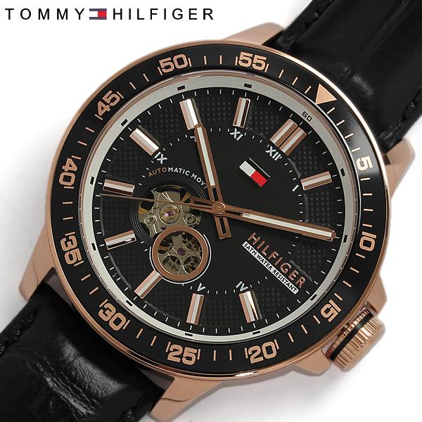 3e270270 TOMMY HILFIGER Tommy Hilfiger automatic self-winding men's watch black /  pink 1791057