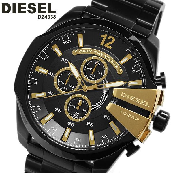 【送料無料】≪ディーゼル/DIESEL/腕時計≫ディーゼル DIESEL 腕時計 メンズ クロノグラフ DZ4338 MEN'S うでどけい 10気圧防水 ブラック×ゴールド ブランド