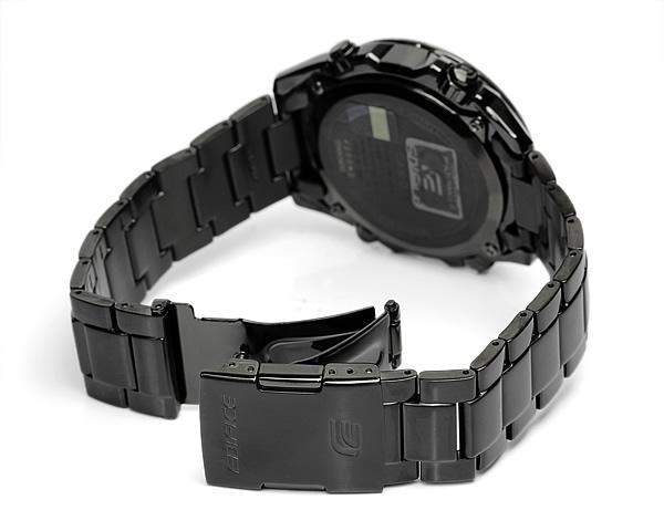 大厦波太阳能手表男士计时黑色 x 黑金属大厦酒业-M600DC-1A 男装 udedokei 手表