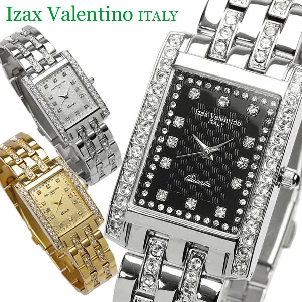 【Izac Valentino】【アイザックバレンチノ】 腕時計 メンズ スクエア ラインストーン IVG-7000 Men's ブランド ウォッチ