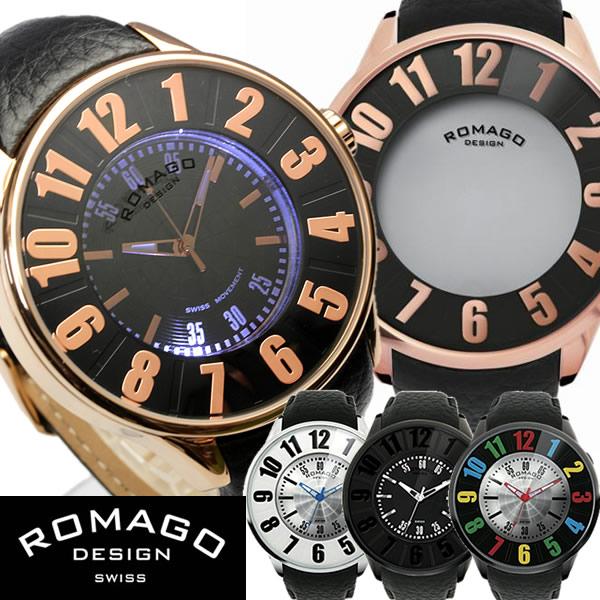 【ROMAGO/ロマゴ デザイン】 西内まりや着用モデル 腕時計 レディース メンズ ミラーウォッチ レザーベルト スイス 男女兼用 RM015-0162SS うでどけい ウォッチ