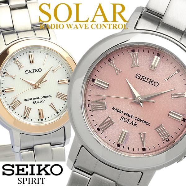 【送料無料】【SEIKO SPIRIT】 セイコー スピリット ソーラー電波腕時計 レディース メタル 10気圧防水 SSDT059 SSDT060 うでどけい ウォッチ 【国内正規品】