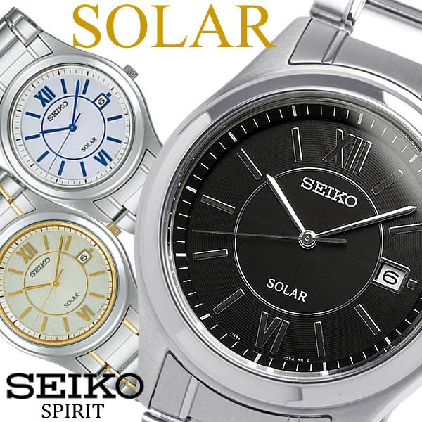 【送料無料】【SEIKO SPIRIT】 セイコー スピリット ソーラー腕時計 メンズ メタル 10気圧防水 SBPN061 SBPN063 SBPN065 うでどけい ウォッチ Men's 【国内正規品】