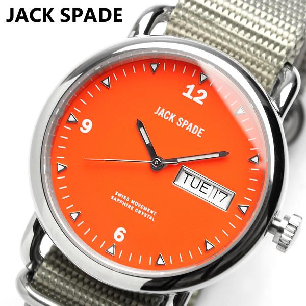 【JACK SPADE】【ジャックスペード】 腕時計 ナイロン オレンジ メンズ Kate Spade ケイト スペード 系列ブランドメンズライン WURU0029 ウォッチ 男性用 Men's