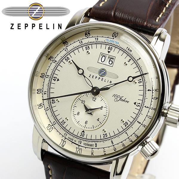 【送料無料】【ツェッペリン】【Zeppelin】 100周年 限定モデル デュアルタイム メンズ腕時計 7640-1 MEN'S 男性用 うでどけい ウォッチ レザー