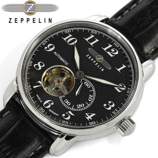 Zeppelin ツェッペリン メンズ 腕時計 ウォッチ ドイツ製 MADE IN GERMANY オートマチック 5気圧防水 スモールセコンド シースルーバック レザー 7666-2