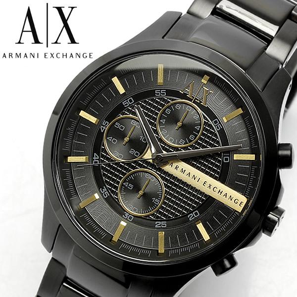 【スーパーSALE】【送料無料】【ARMANI EXCHANGE】 アルマーニ エクスチェンジ クロノグラフ 腕時計 メンズ ブラック×ゴールド AX2164 うでどけい 男性用 MEN'S クロノ ギフト