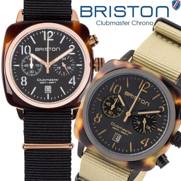 【スーパーSALE】【送料無料】BRISTON ブリストン 腕時計 メンズ クロノグラフ ミリタリー NATOベルト クラシック ブランド 人気 ウォッチ レディース ユニセックス 14140