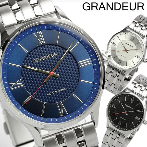 最大1000円OFFクーポン 【GRANDEUR】 グランドール 腕時計 メンズ メタルバンド GSX055 ウォッチ うでどけい MEN'S
