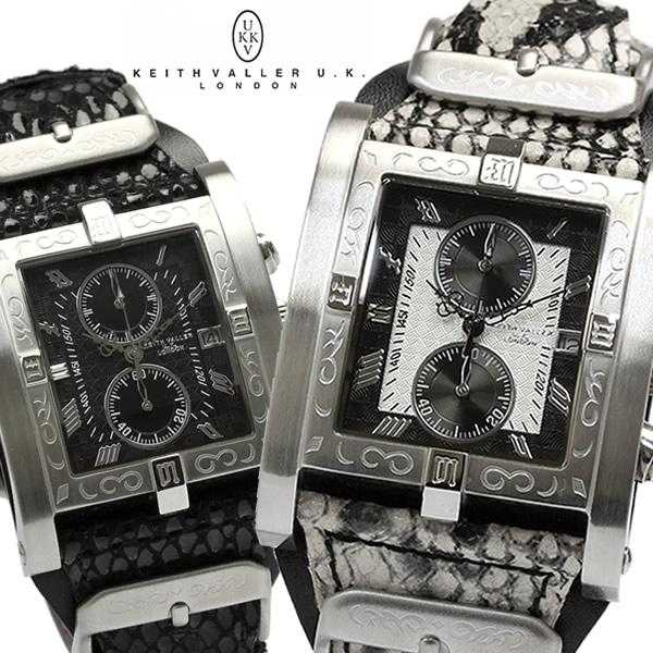 キース バリー KEITH VALLER クオーツ クロノ メンズ 腕時計 PSC うでどけい ウォッチ 男性用 MEN'S レザー クロノグラフ
