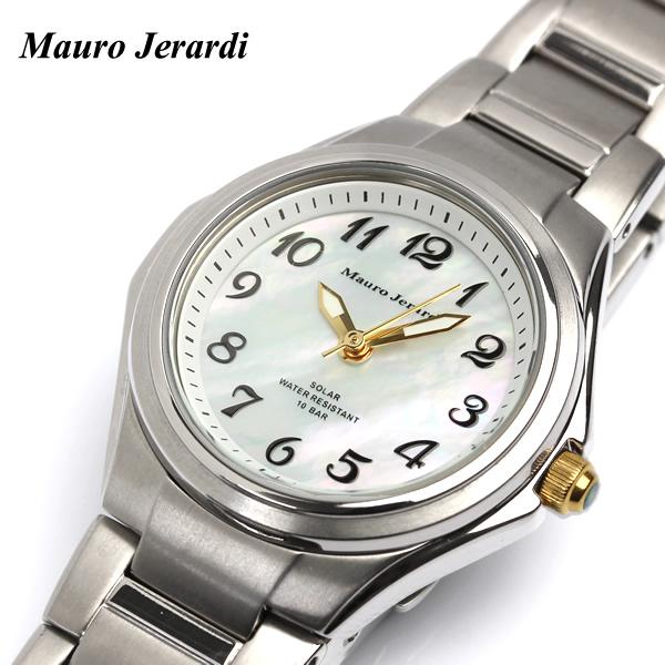 【腕時計】【レディース】マウロジェラルディ ソーラー シェル文字盤 腕時計 チタン ウォッチ 腕時計 レディース LADY'S うでどけい MJ040-4