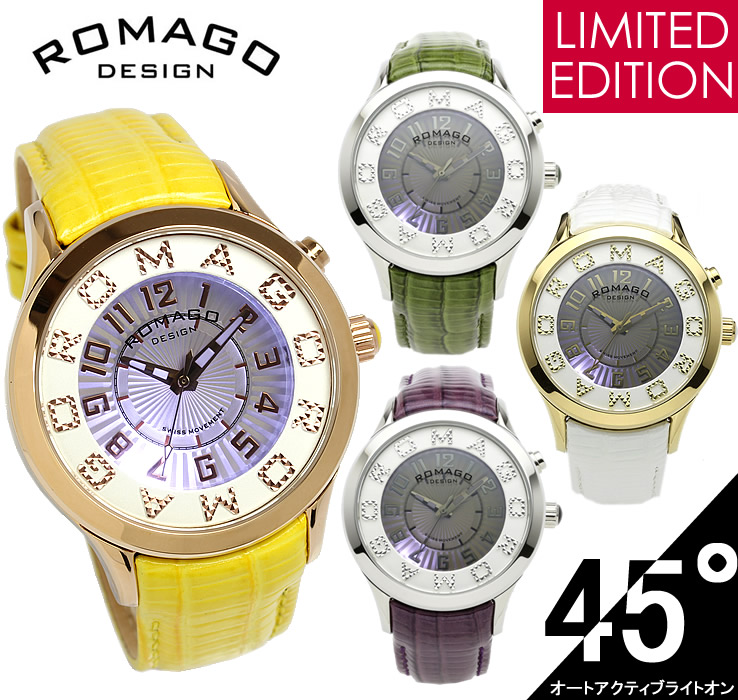 【限定モデル】【ROMAGO】 ロマゴ デザイン 腕時計 レディース ミラーウォッチ 雑誌掲載 本革レザー RM067-0612ST うでどけい ウォッチ