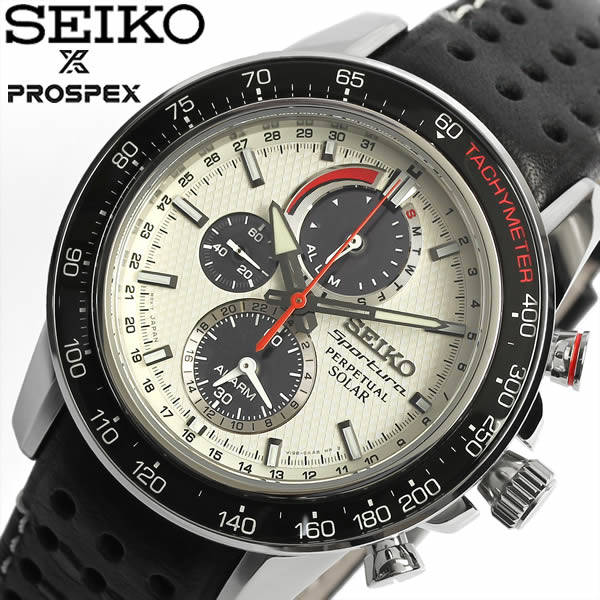 【最大1000円クーポン】 【送料無料】【セイコー】【腕時計】SEIKO Sportura セイコー スポーチュラ 腕時計 ウォッチ メンズ クロノグラフ ソーラー 10気圧防水 海外モデル レザーベルト SSC359P1