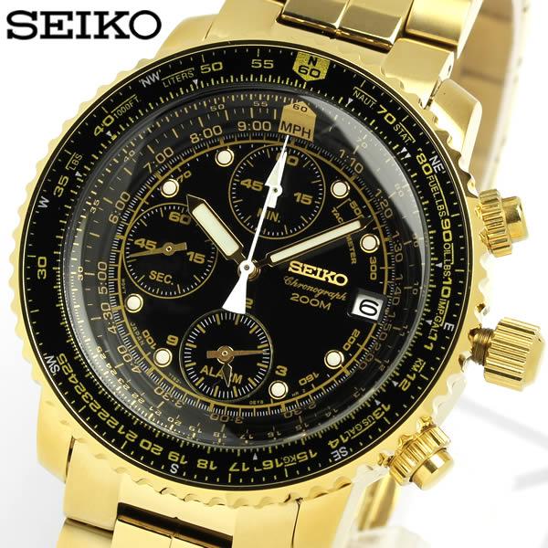 【送料無料】【セイコー】【SEIKO】 腕時計 クロノグラフ メンズ 海外モデル SNA414P1 Men's ウォッチ うでどけい レザー 革ベルト 男性用 200m防水