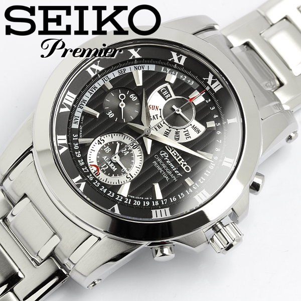 セイコー SEIKO 腕時計 ウォッチ プルミエ メンズ SPC161P1 ステンレス クロノグラフ カレンダー Mens 紳士 ビジネス