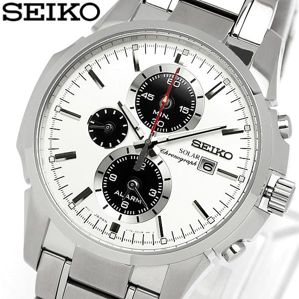 【送料無料】【セイコー】【腕時計】セイコー SEIKO 腕時計 メンズ 海外モデル クロノグラフ ソーラー アラーム クロノグラフ メンズ SSC083P1 MEN'S ウォッチ