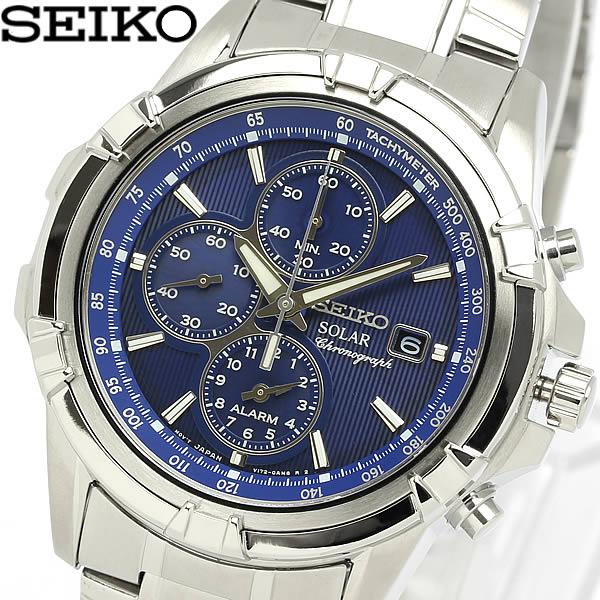 【送料無料】【セイコー】【腕時計】セイコー SEIKO 腕時計 メンズ 海外モデル クロノグラフ ソーラー アラーム クロノグラフ メンズ SSC141P11MEN'S ウォッチ