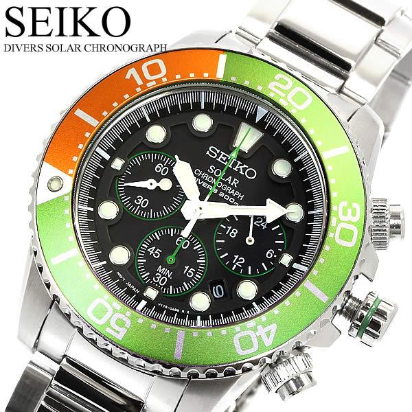 【送料無料】【セイコー】【腕時計】セイコー SEIKO 腕時計 メンズ クロノグラフ ダイバーズウォッチ ソーラー 20気圧防水 SSC237P1 MEN'S うでどけい